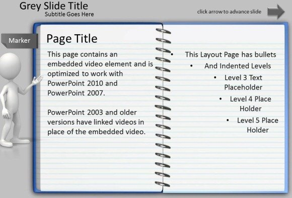 animated notepad page turn effect for powerpoint presentations, Presentation templates