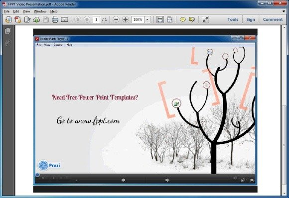 Play Video From Any Common PDF Reader