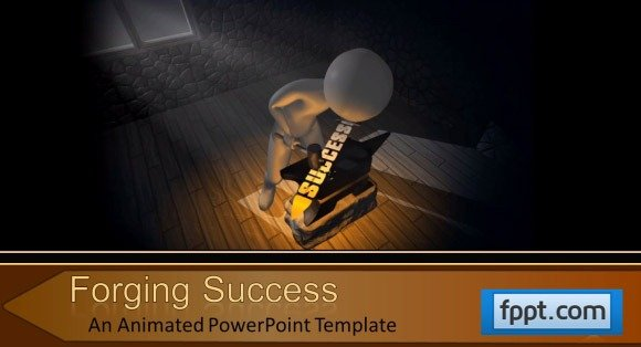 animated forging success powerpoint template, Powerpoint templates