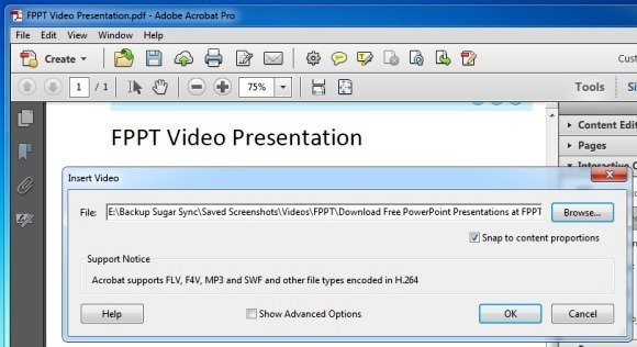 Select A Video From A Supported Format