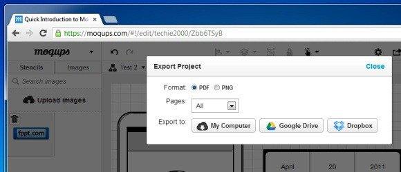 Share Mockups Online Or Export Them Offline