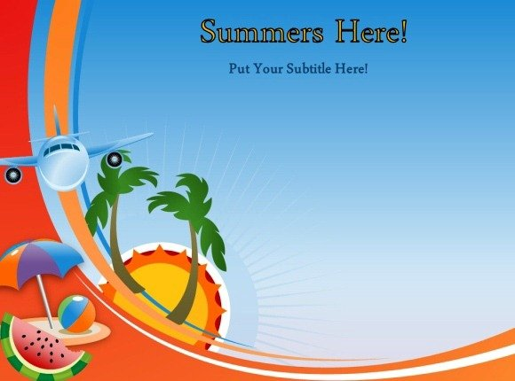 Animated Summer Template For Powerpoint