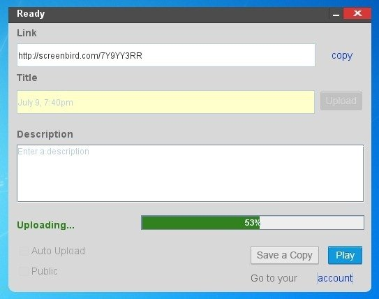 Upload Screencasts Or Save Them Offline in MP4 Format
