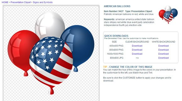 american flag balloons powerpoint