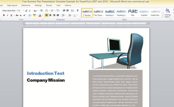 microsoft report template