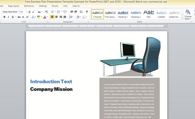 Business Report Template For Microsoft Word