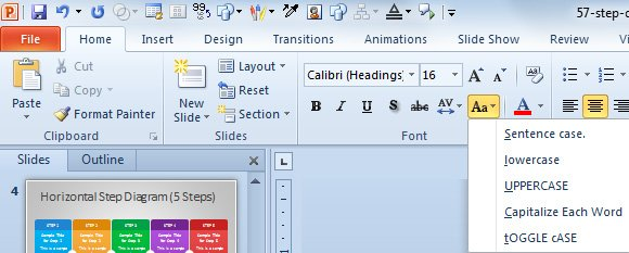 change text case powerpoint
