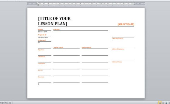 Daily Lesson Planner Template For Word 2  Planner Template Word