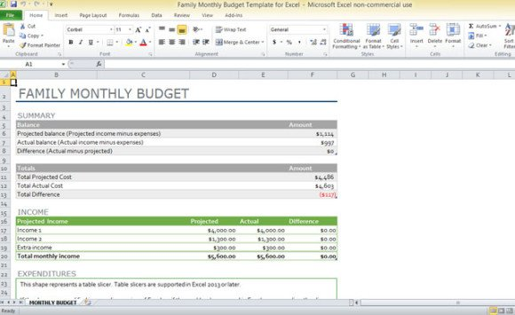 semi monthly budget template