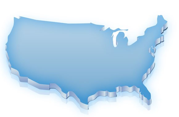 Free Us Map Template For Photoshop - Us-map-powerpoint-template