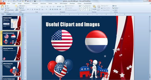 medal us powerpoint template independence day free background