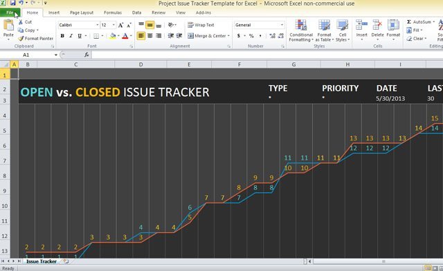 Project Issue Tracker Template For Excel