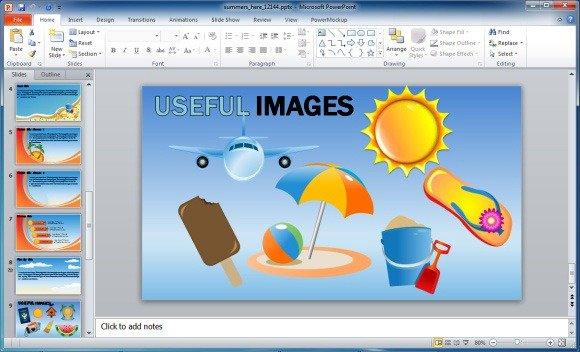 Animated summer template for powerpoint summersherewidescreen toneelgroepblik Gallery