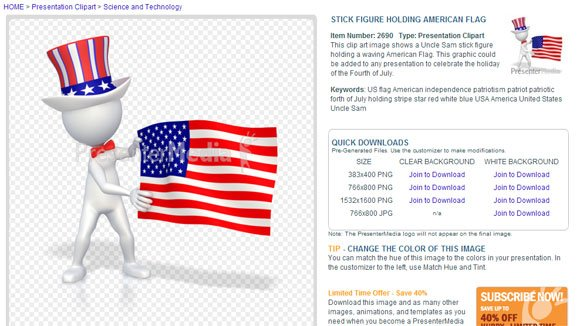 uncle sam powerpoint template july 4th