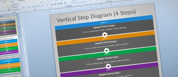 Free steps diagram for powerpoint for this purpose we have created this editable step process template for microsoft powerpoint presentations this free ppt template for microsoft toneelgroepblik Image collections