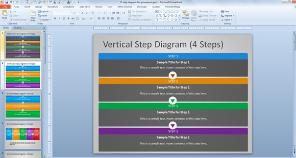 Free Steps Powerpoint Template