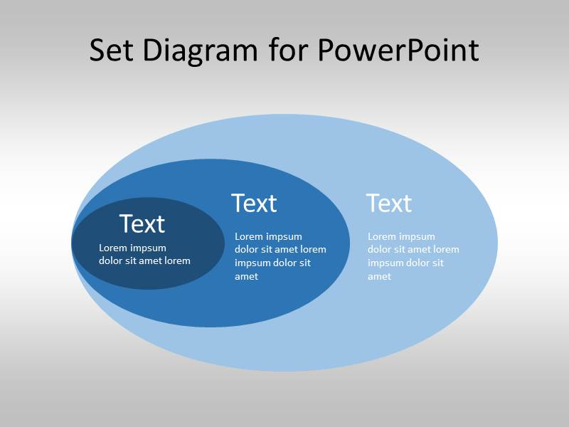 Free set diagram for powerpoint venn diagram template for Setting up a powerpoint template
