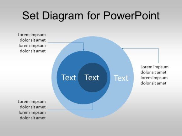 set diagram for powerpoint (venn diagram template), Modern powerpoint