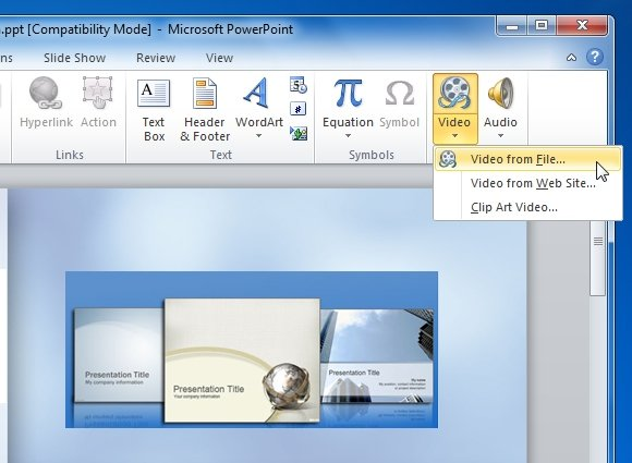 Add Audio And Video To PowerPoint