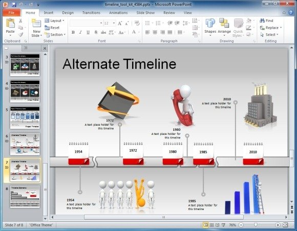 Awesome timeline toolkit for powerpoint presentations create timelines with various readymade slides toneelgroepblik Image collections
