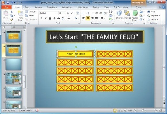family feud powerpoint template, Modern powerpoint