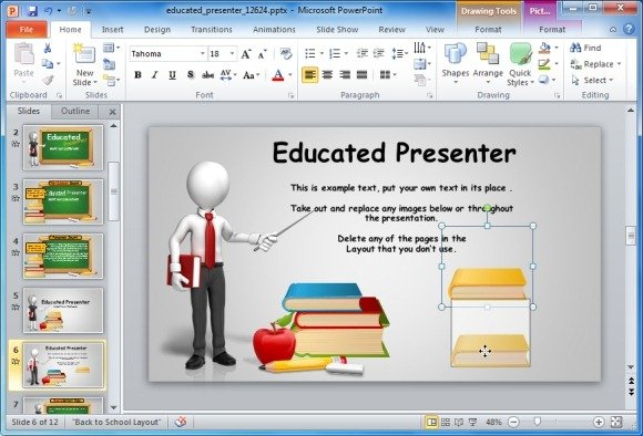 Animated blackboard template for educational powerpoint presentations editable clipart items toneelgroepblik Image collections