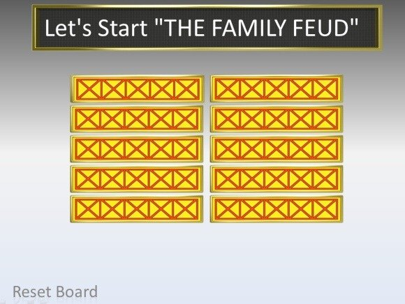 Family Feud Template For Point