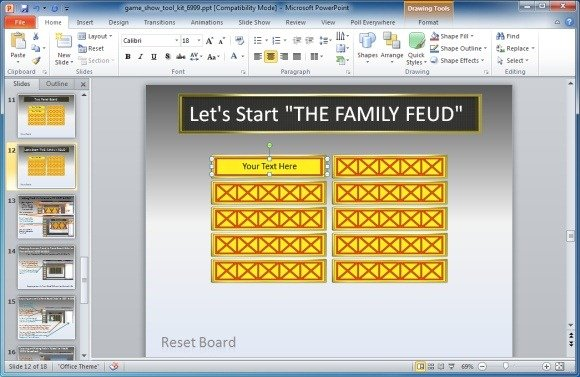 family feud powerpoint template, Powerpoint templates