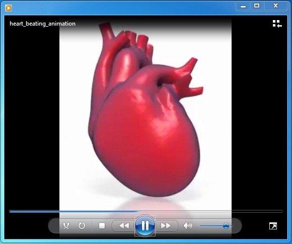 Heart beating animationg fppt toneelgroepblik Images