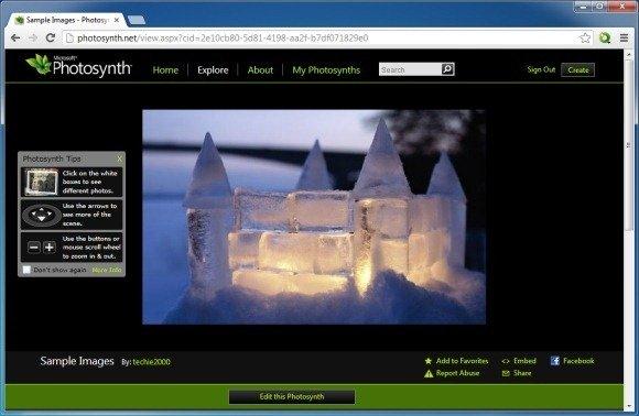 Photosynth web service