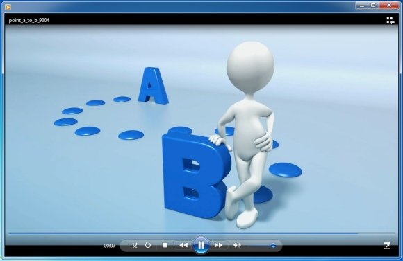 Powerpoint Template With Animation Going From Point A To Point B
