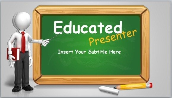 Animated blackboard template for educational powerpoint presentations educated presenter powerpoint template toneelgroepblik Images