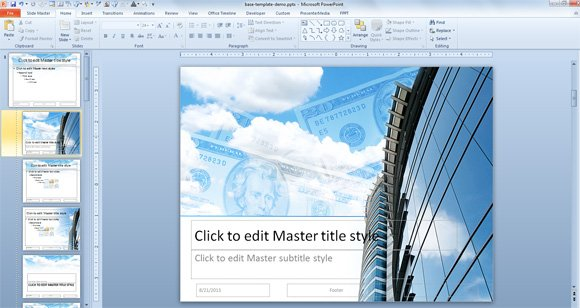 How to Create a PowerPoint Template using a  Image Background