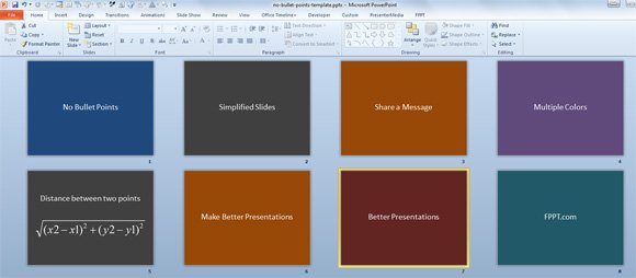 in power points presentation how to use bullet
