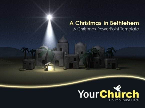 a christmas in bethlehem powerpoint template - Free Church Powerpoint Templates