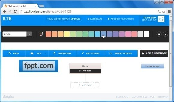 Add Colors to Sitemap