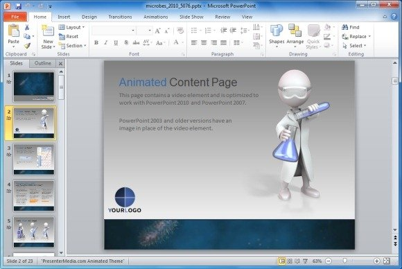 Animated Content Page