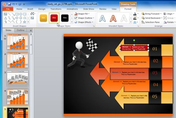 create business performance powerpoint presentations with ready, Presentation templates