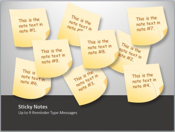 Animated sticky notes template toolkit for powerpoint create sticky notes for presentations toneelgroepblik Gallery