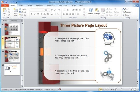 Different Page Layouts With Clipart