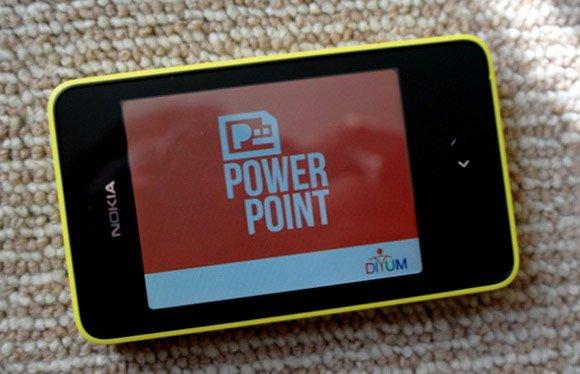 Nokia Asha 501 With PowerPoint