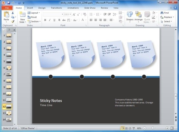 animated sticky notes template toolkit for powerpoint, Powerpoint templates