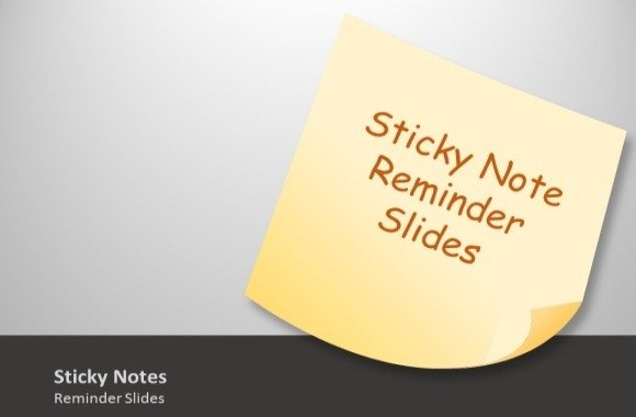 photo about Editable Post It Note Template named Animated Sticky Notes Template Toolkit For PowerPoint