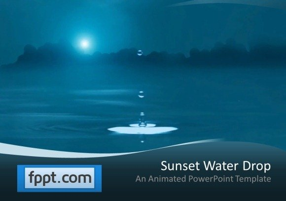 animated water drop powerpoint template, Modern powerpoint