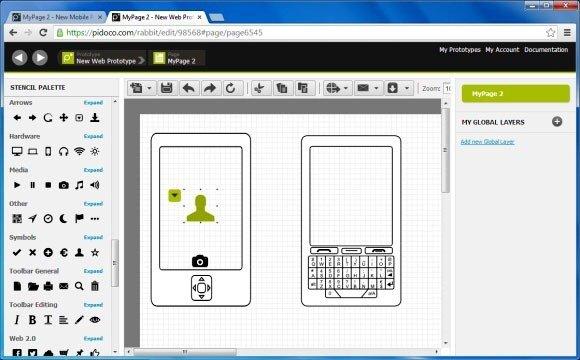 Web Prototype With Pidoco