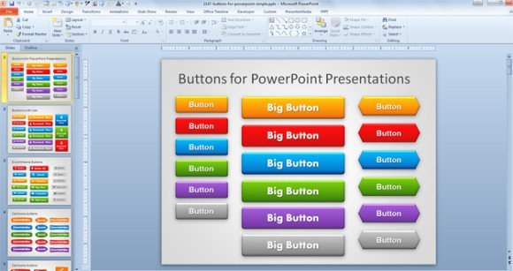 well designed powerpoint templates - free buttons for powerpoint presentations
