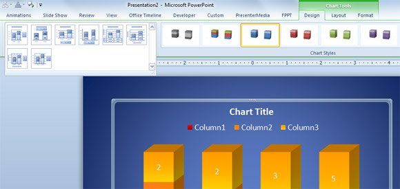 add title powerpoint 2010 layout