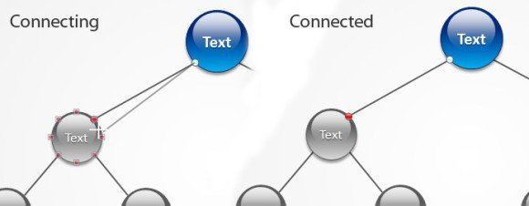 Connected anchor in PowerPoint 2010