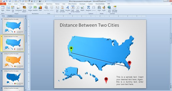 Us map distance between cities