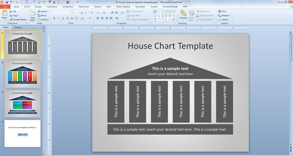House chart template for powerpoint free house chart template for powerpoint toneelgroepblik Choice Image